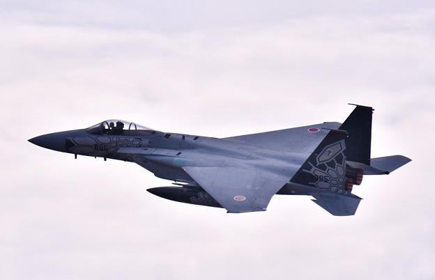 小松基地航空祭。。第303飛行隊ドラゴンのスペマ機(2)機動飛行