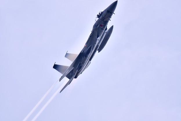 小松基地航空祭。。第303飛行隊ドラゴンのスペマ機(3)機動飛行