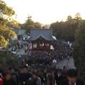 Photos: 撮って出し。。江ノ島から夕方鎌倉鶴岡八幡宮へ。。すごい人(^_^;) 20190105