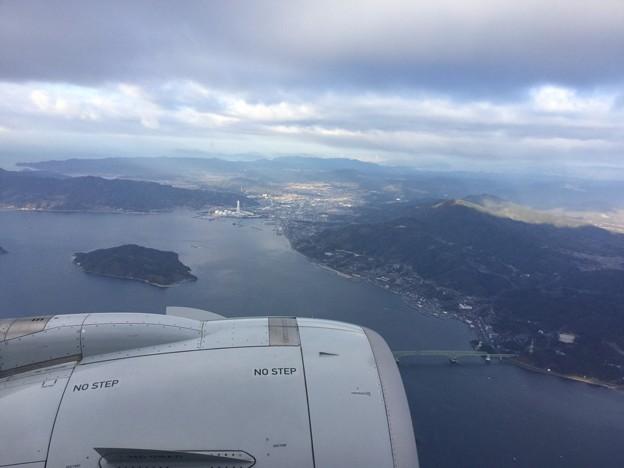 撮って出し。。岩国へ向かう機内瀬戸内の島々 1月14日