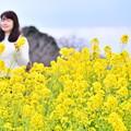 撮って出し。。綺麗な黄色い菜の花畑満開 吾妻山公園 1月20日