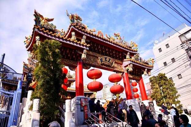 撮って出し。。今年の横浜中華街での春節 関帝廟 20190216