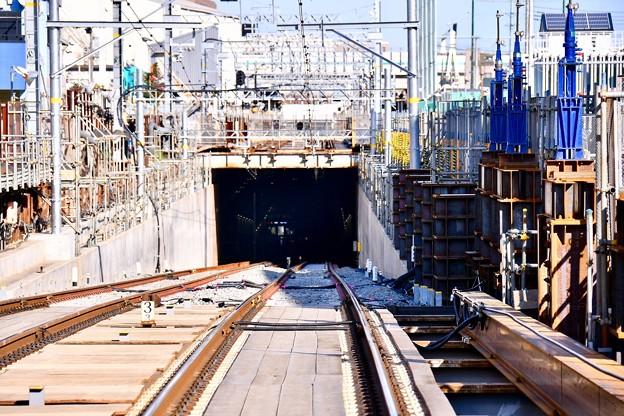 撮って出し 京急大師線産業道路駅地下化 使用されなくなった線路 20190309