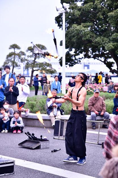 横浜山下公園散策。。大道芸人の聖地へ 20190414