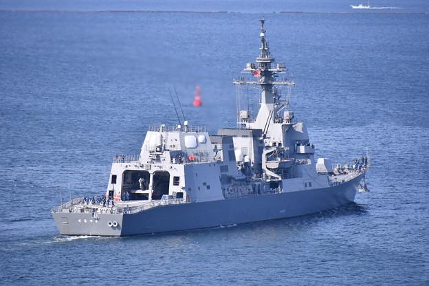撮って出し。。護衛艦てるづき横須賀基地出港 20190420