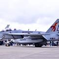 撮って出し。。厚木基地一般開放でスペシャルな塗装機 VAQ-132スコーピオンズ 20190427