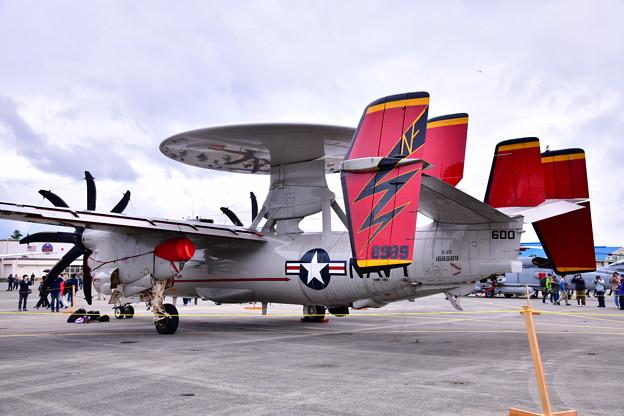 Photos: 撮って出し。。岩国のVAW-125タイガーテイルズホークアイE-2Dアドバイス 20190427