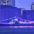 Photos: 10月の撮って出し。。観艦式で寄港してた中国海軍駆逐艦太原 電灯艦飾(1)