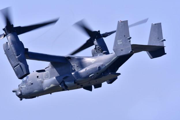 9月の撮って出し。。三沢基地航空祭 CV-22オスプレイ デモ飛行(2)