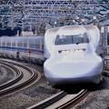 Photos: 20200222 ノーマル車輌700系のぞみB編成 小田原駅通過風景(1)