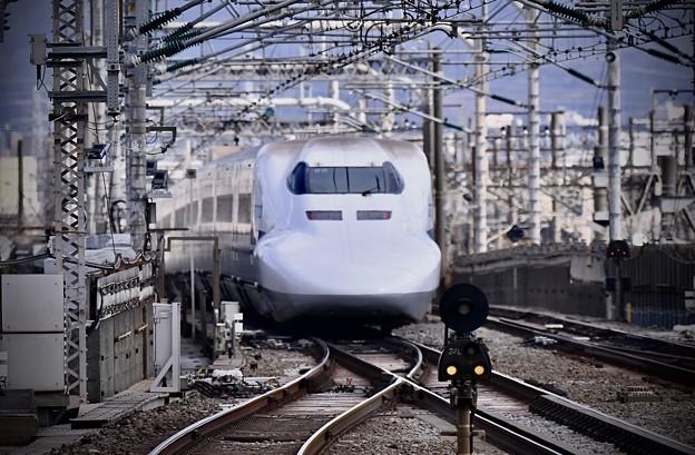 20200222 ノーマル車輌700系のぞみB編成 小田原駅通過風景(2)