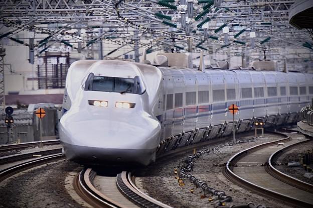 20200222 ノーマル車輌700系のぞみB編成 小田原駅通過風景(3)
