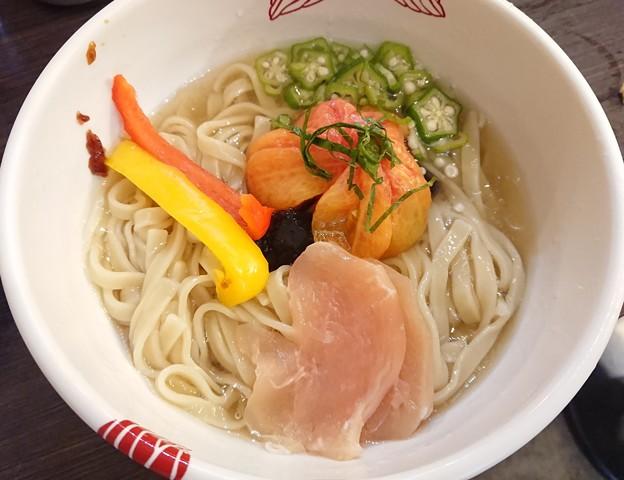 180727 あす花@千代田区~「限定★ぷるぷる食べるスープ尾冷やし中華風和え麺」