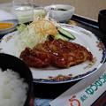 ランチメニュー(チキンの山賊焼き定食)(道の駅・貞光ゆうゆう館【徳島】)