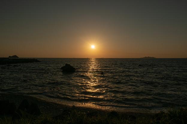 夕焼け軍艦島・1