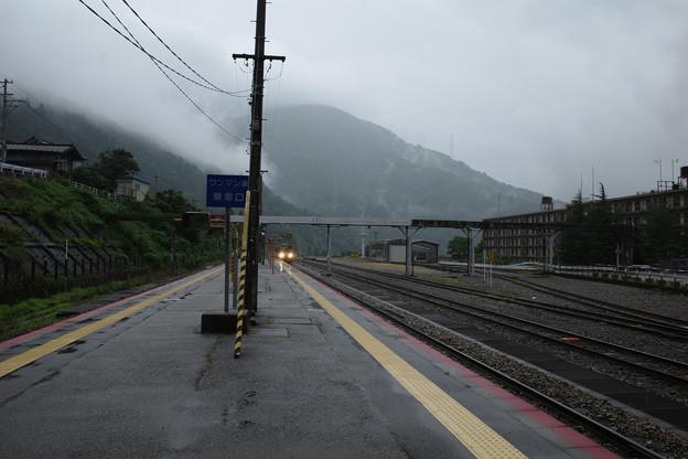 高山線・猪谷駅にて