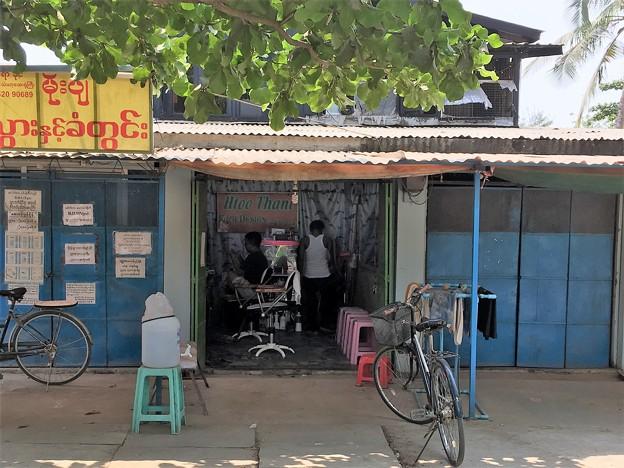 ミャンマー 散髪屋 (3)