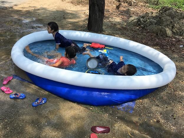 水かけ祭りと団子とプール (12)