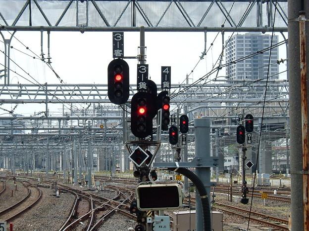 Photos: 出発信号機がたくさん