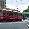 写真: 信号待ちする東京さくらトラム(都電荒川線)