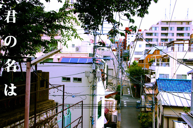 「君の名は」四谷須賀神社参道階段 東京都新宿区