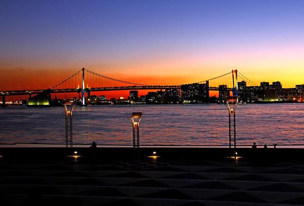東京湾岸夕景