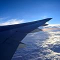 写真: 機窓からの眺め