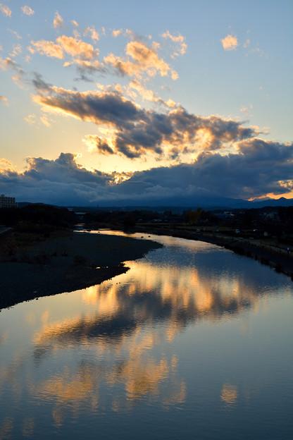 穏やかな川面