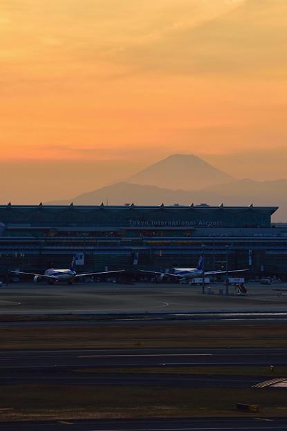 羽田の夕景