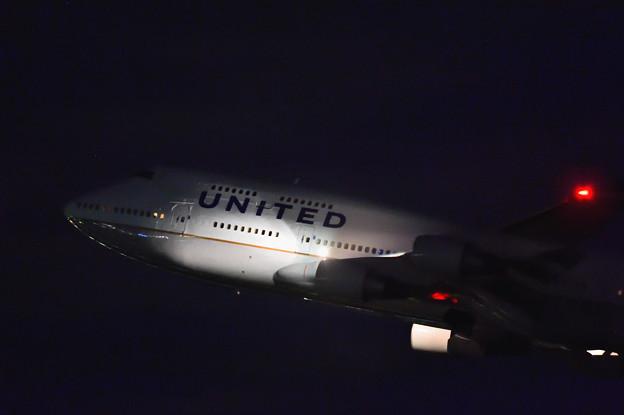 UNITED・B744 Departure