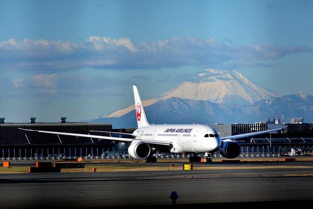 新整備場駅付近から富士山を望む