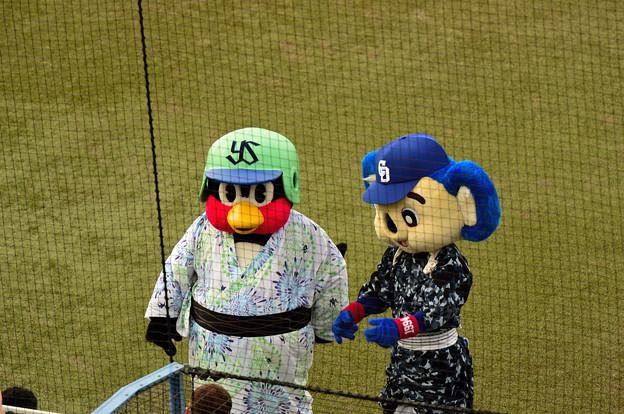 つば九郎親方とドアラ