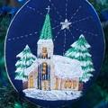 刺繍クリスマス