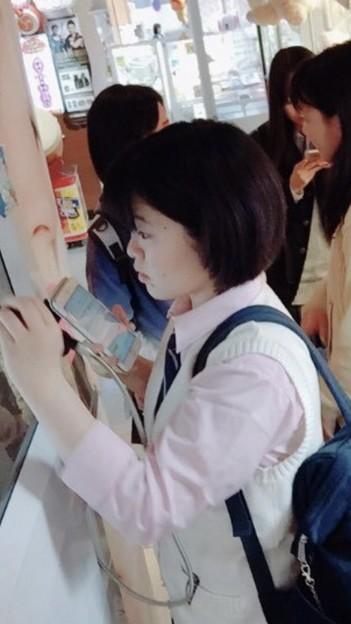 長田未奈ちゃんとプリクラ