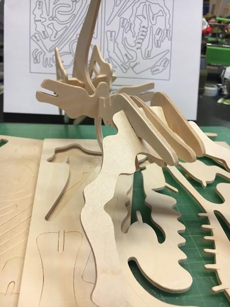 木製組み立て工作恐竜プテラノドン06