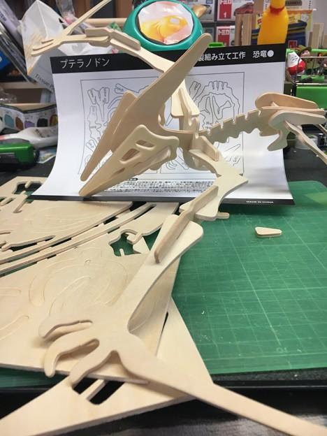 木製組み立て工作恐竜プテラノドン08