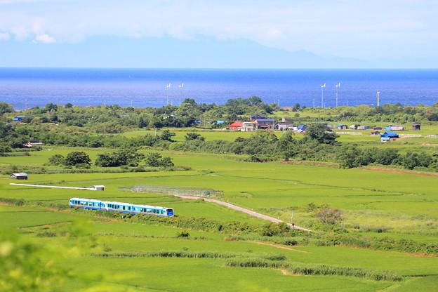 写真: JR津軽線 大川平俯瞰