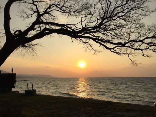 淡路西海岸夕日