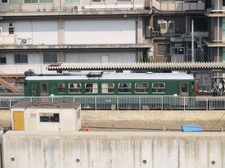 高架のホームからは北近畿タンゴ鉄道の車両が見える
