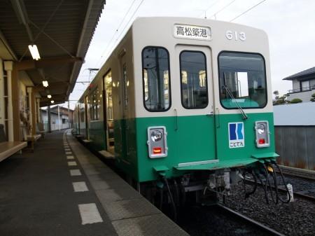 長尾線の車両、写真は長尾駅で撮影