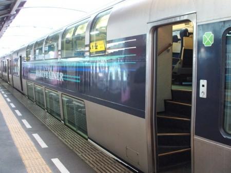 マリンライナー自慢の2階建て車両はJR東日本のE217系グリーン車を元に設計されている