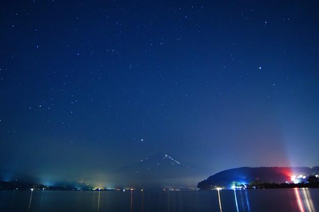 写真: 真夏の夜の Mt.Fuji