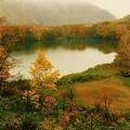 写真: 静かな湖畔の秋景色・・・丸池