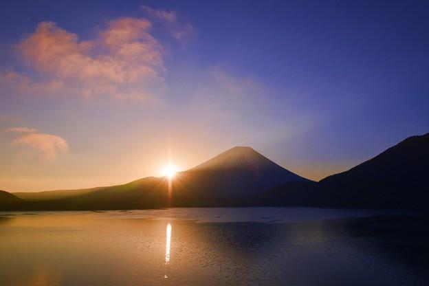 静かな湖畔の・・・眩しい朝