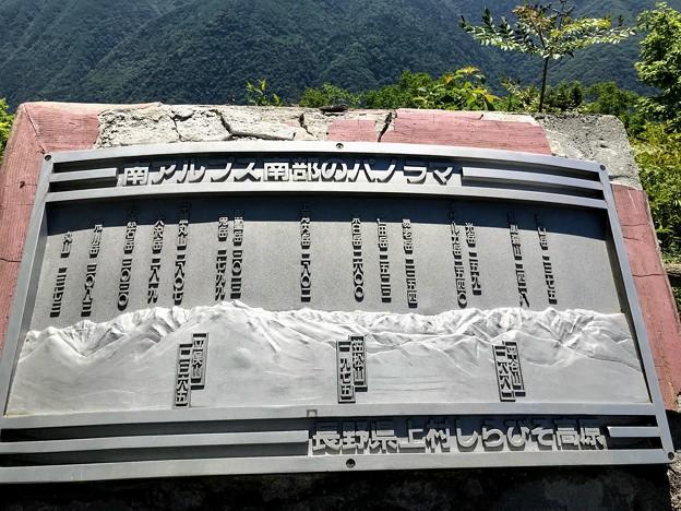 しらびそ高原 山の案内板