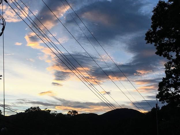 のとろ原の夕焼け空