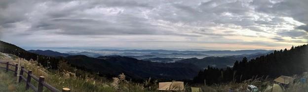 生石高原キャンプ場からの景色