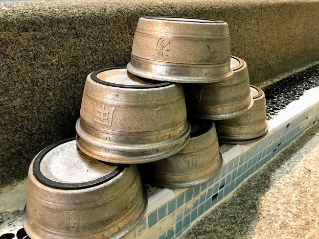 アルミの風呂桶