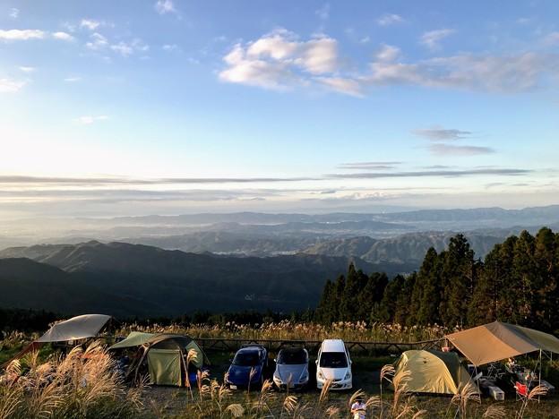 生石高原キャンプ場の景色