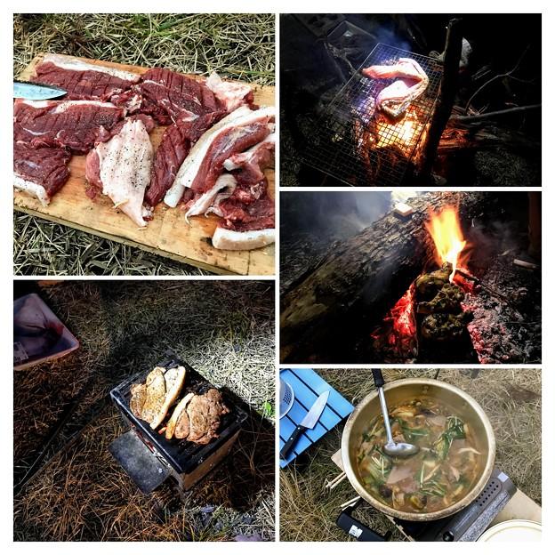 上山高原でのキャンプ飯